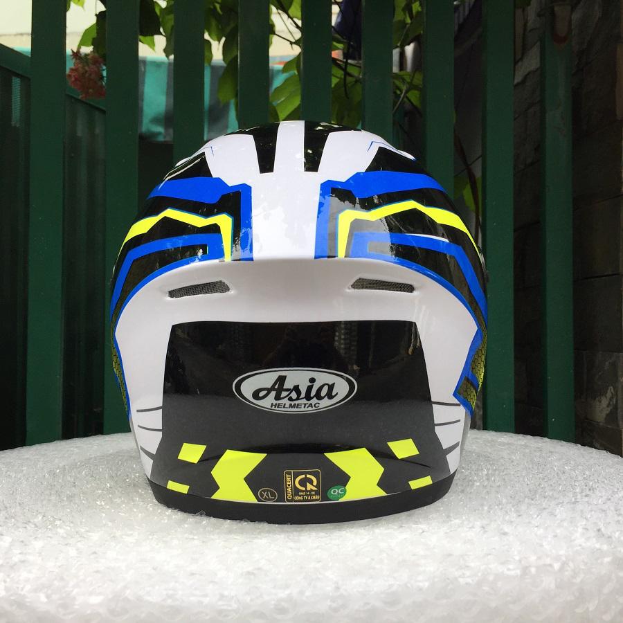 Mũ bảo hiểm Fullface Asia MT136 (Size L) - Tem SR xanh dương