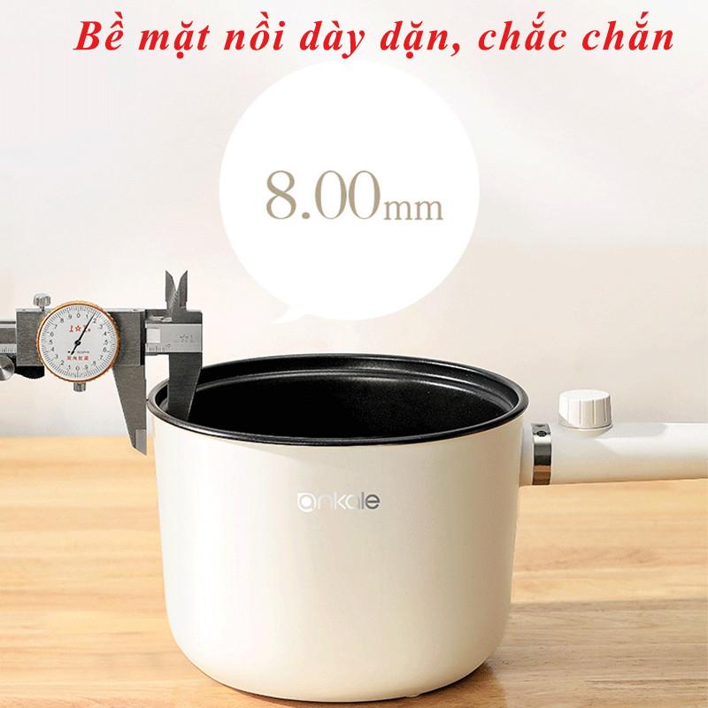Nồi Nấu Lẩu, Nấu Mì, Hầm Cháo Điện Mini Đa Năng - Siêu Chống Dính 1.5L