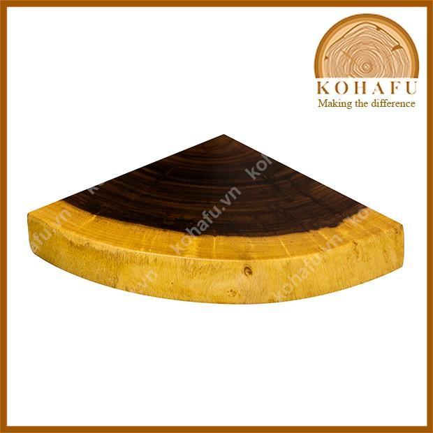 Kệ gỗ góc tư gỗ me tây nguyên tấm, kệ trang trí gỗ nguyên tấm