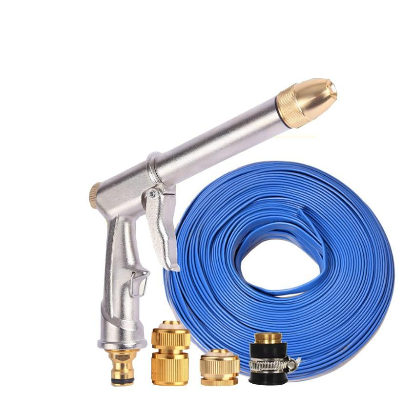 Vòi nước vòi phun nước rửa xe tưới cây tăng áp thông minh + bộ dây bơm nước cao cấp TLG 206810 đầu đồng,cút đồng