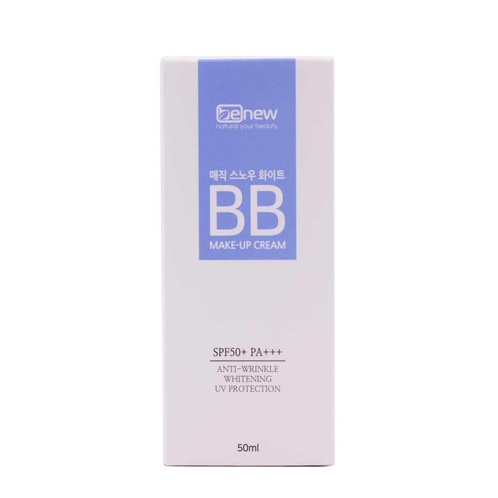 Kem nền trang điểm BB ma thuật che phủ hoàn hảo Hàn Quốc cao cấp Benew Magic Snow White SPF 50 PA+++ (50ml) – Hàng chính hãng