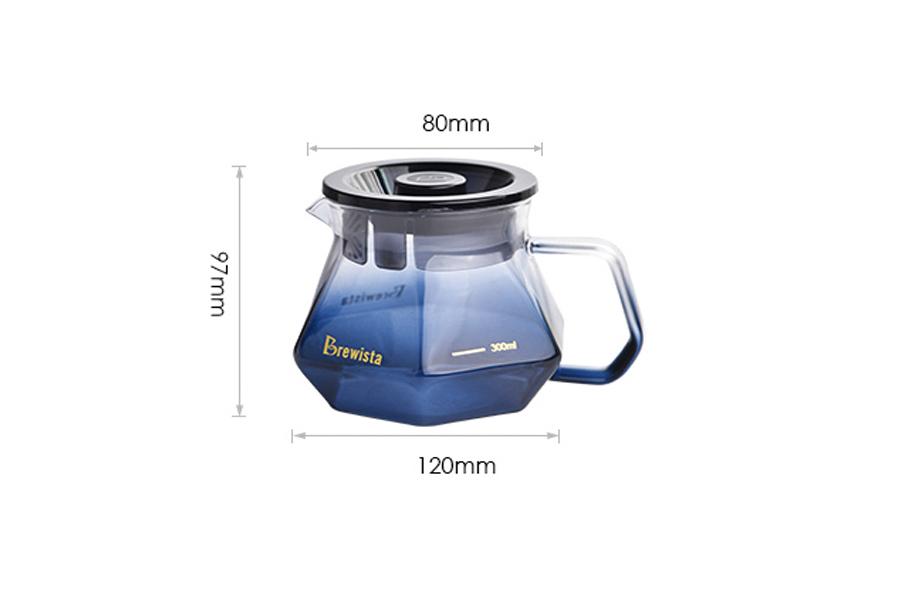 Bình chứa cà phê Server Brewista X-series 400ml - màu xanh