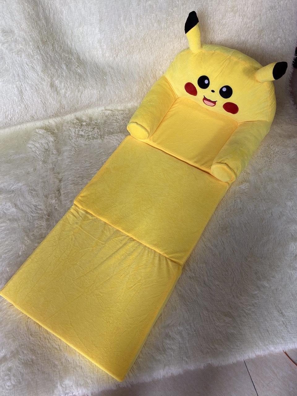 Ghế Lười Bông Cho Bé Hình Thú Pikachu