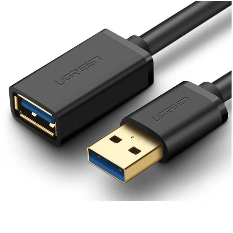 Cáp tín hiệu USB 3.0 nối dài cao cấp dài 1.5m màu đen UGREEN USB30126Us129 Hàng chính hãng