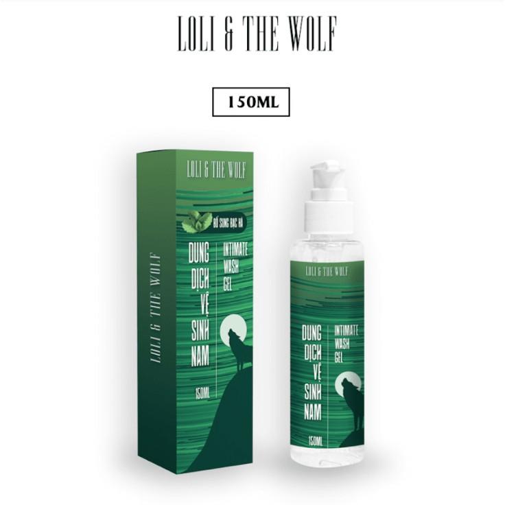 Dung dịch vệ sinh nam LOLI & THE WOLF chai vòi nhấn 150ml - Hương Bạc Hà