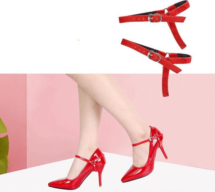 Bộ Dây giày cho nữ giày cao gót chống trượt đủ các màu khóa điều chỉnh tùy ý