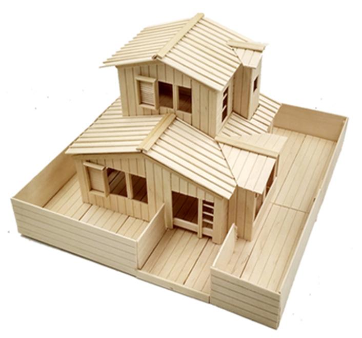 Que kem gỗ làm mô hình handmade