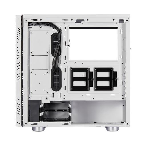 Case Corsair 275R Airflow Tempered Glass Mid-Tower Gaming (CC-9011182-WW) (Trắng)- Hàng Chính Hãng