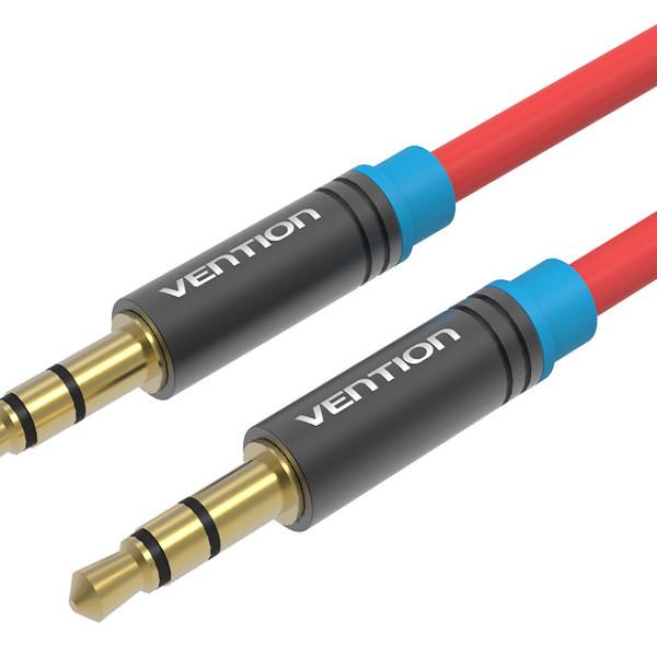 Dây cáp Audio P450AC1200-R 3.5mm Vention dài 12m vỏ nhựa PVC đầu mạ vàng 24k chính hãng Vention