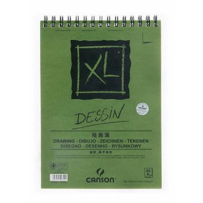 Giấy vẽ dành cho vẽ màu chì Canson XL Dessin 16k, 40 tờ, 160gsm