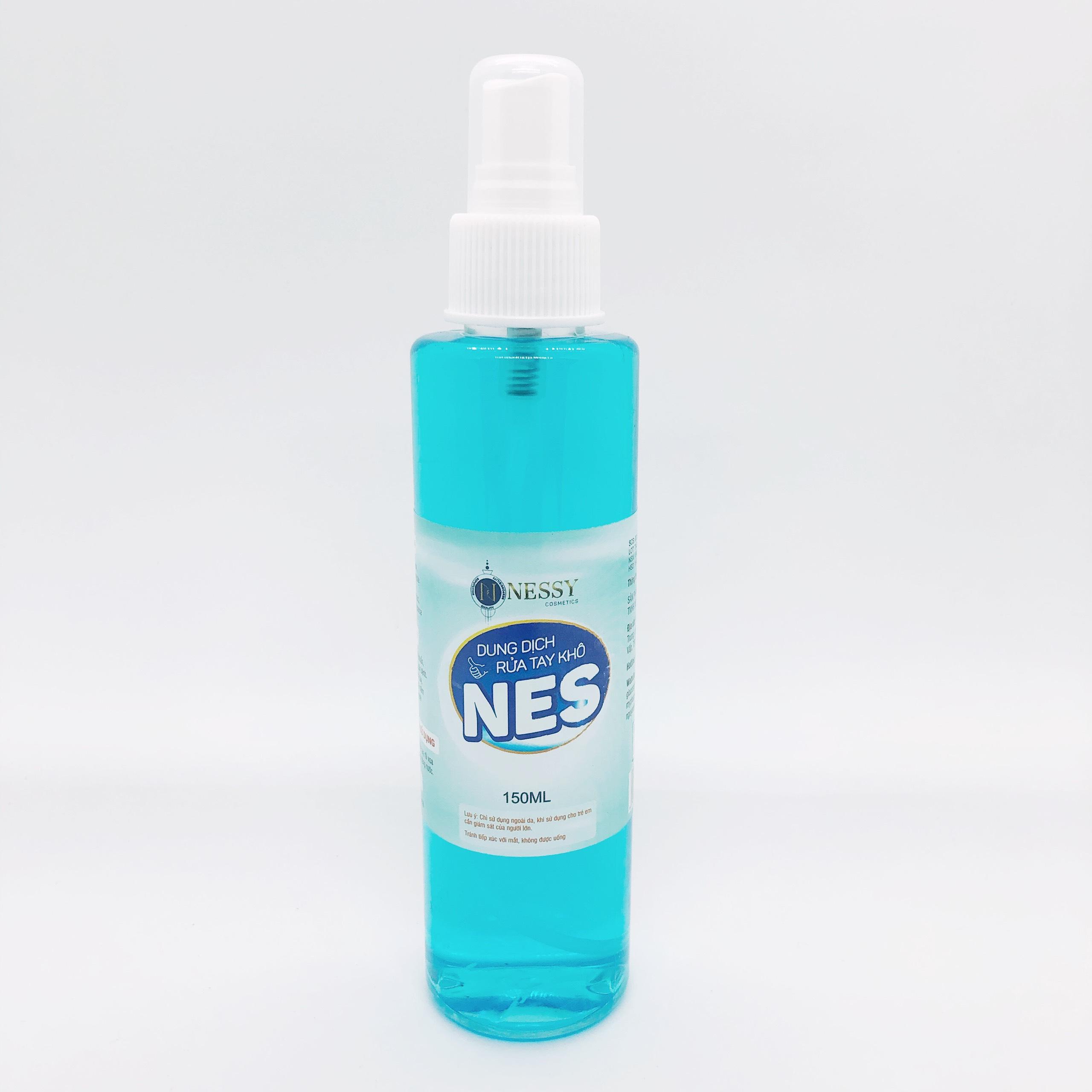Dung Dịch Rửa Tay Khô Nes 150ml chai phun sương- Bổ sung Vitamin E dưỡng ẩm mềm da