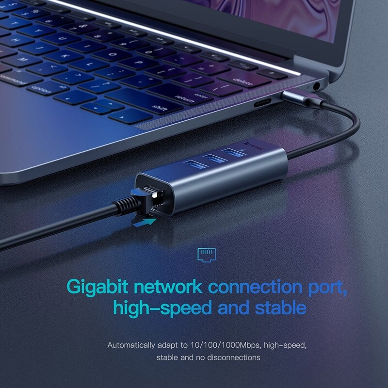 Hub chuyển Type C to USB 3.0 và HDMI Baseus Enjoy Series - Hàng chính hãng