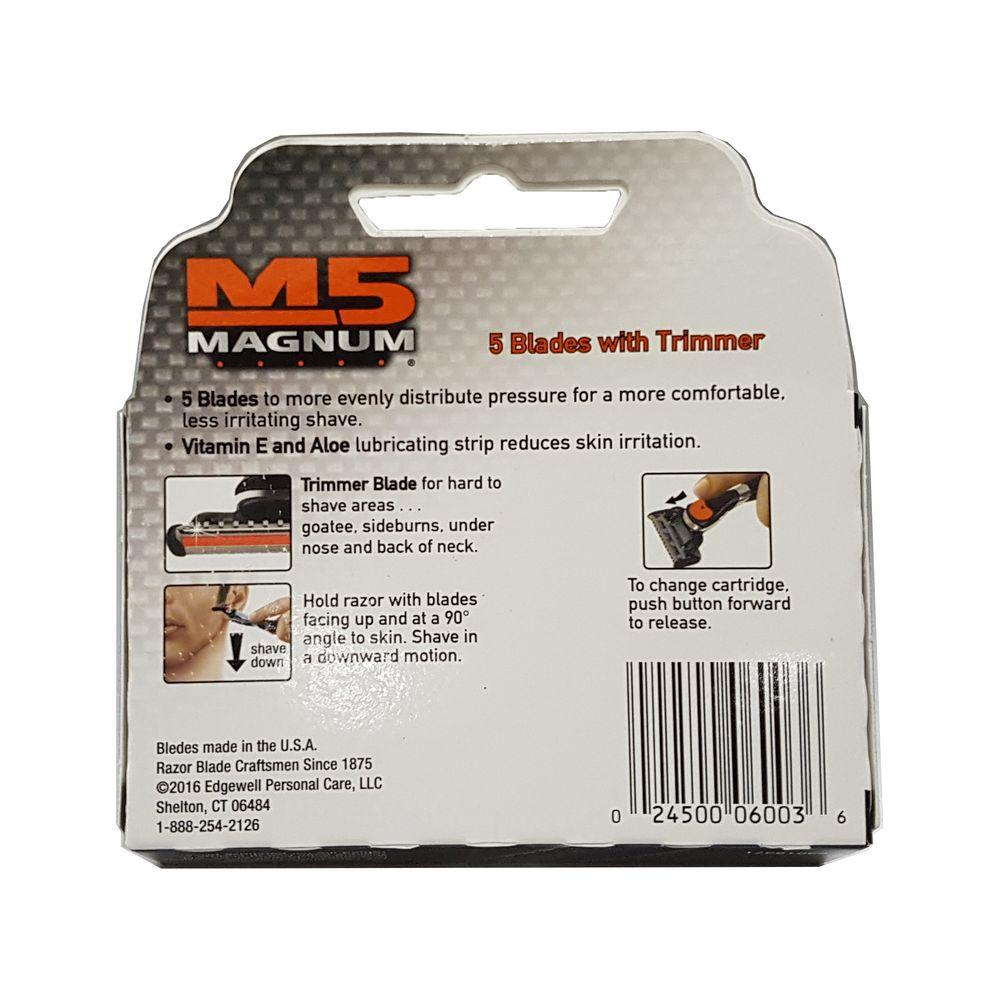 Hộp 4 đầu cạo 5 lưỡi Personna M5 magnum - Hàng nhập khẩu Mỹ