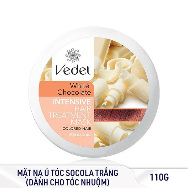 Bộ Đôi Mặt Nạ Vedette (Đất Sét Cocoa Sạch Sâu 145g, Ủ Tóc Socola Trắng Suôn Mượt 110g)
