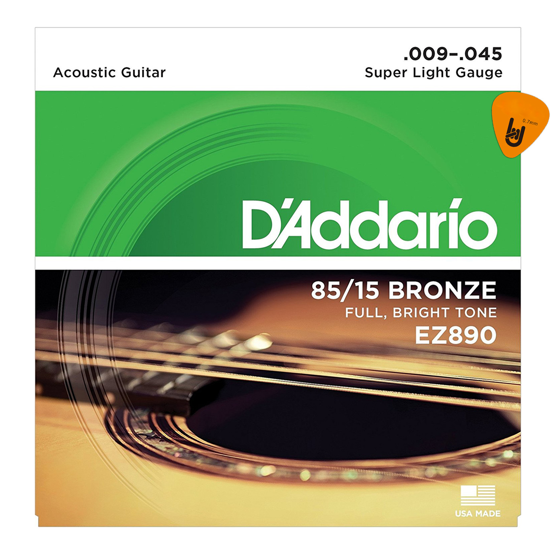 D'Addario EZ890, EZ900, EZ910, EZ920 - Bộ Dây Đàn Guitar Acoustic - Chính Hãng (85/15 Bronze Strings) - Kèm Móng Gảy DreamMaker