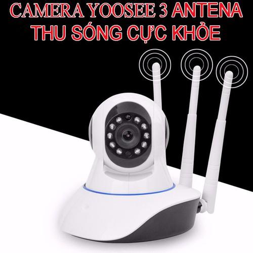 Camera Wifi YooSee 3 anten - Chuẩn 2.0 1080P chip xử lý hình ảnh thế hệ mới hỗ trợ báo động qua điện thoại - Hàng nhập khẩu (tặng kèm đầu đọc thẻ nhớ cao cấp)