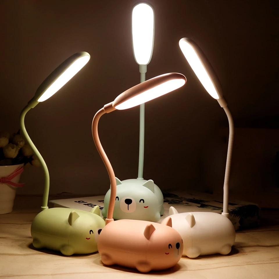 Đèn led để bàn sạc usb hình thú dễ thương