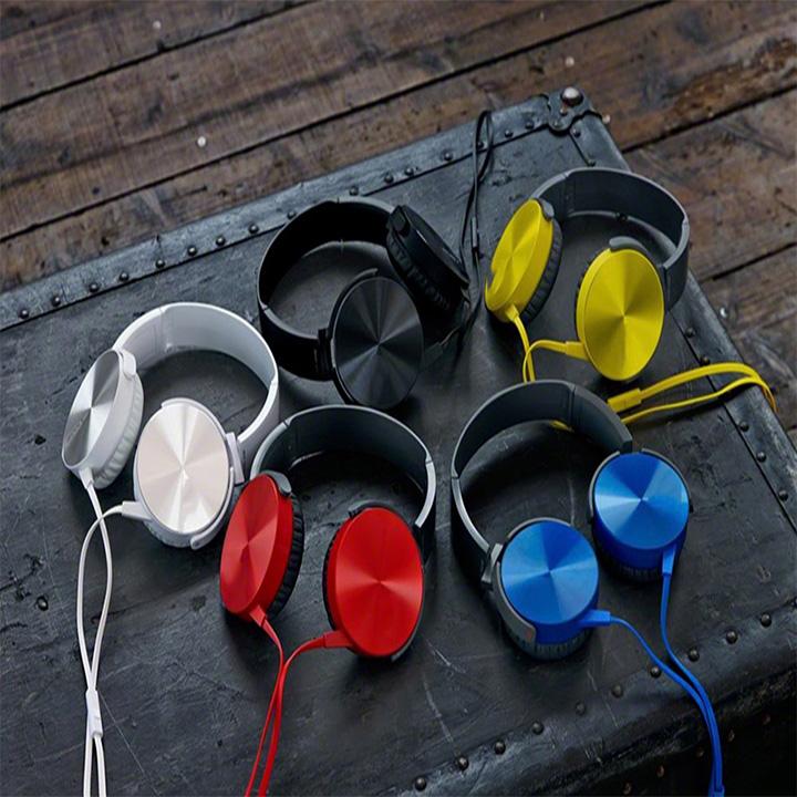 TAI NGHE NHẠC CHỤP TAI MRD-XB450AP âm thanh trầm cao cấp, thiết kế thời trang -tặng que chọt sim - màu ngẫu nhiên
