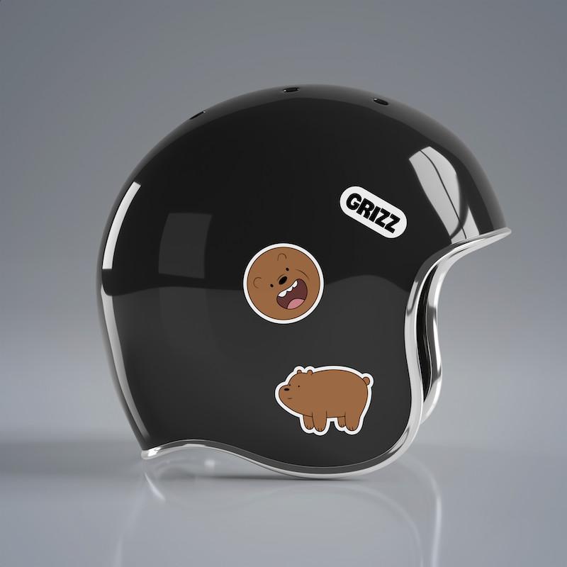 Gấu Nâu Grizz - Single Sticker hình dán lẻ We Bare Bears