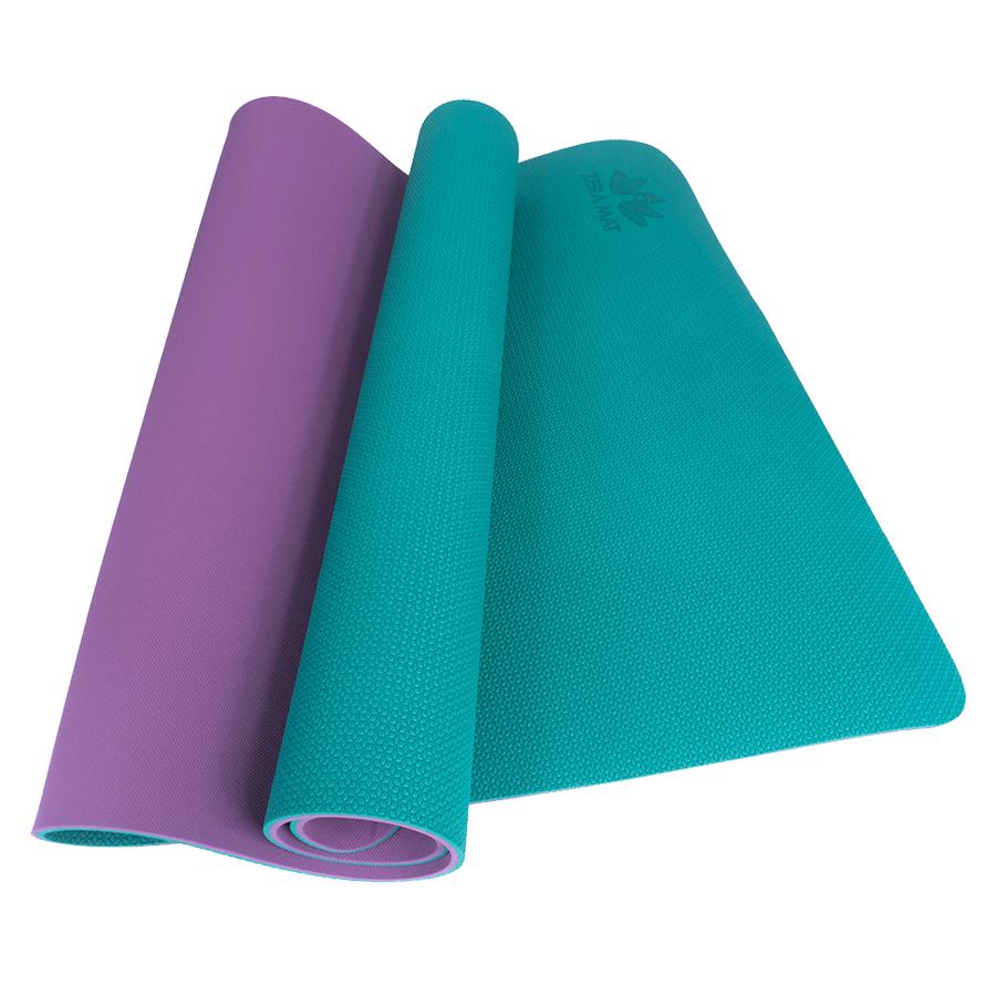 Thảm tập yoga trẻ em Happy Kid Zera TPE 2 lớp 6mm - Xanh ngọc