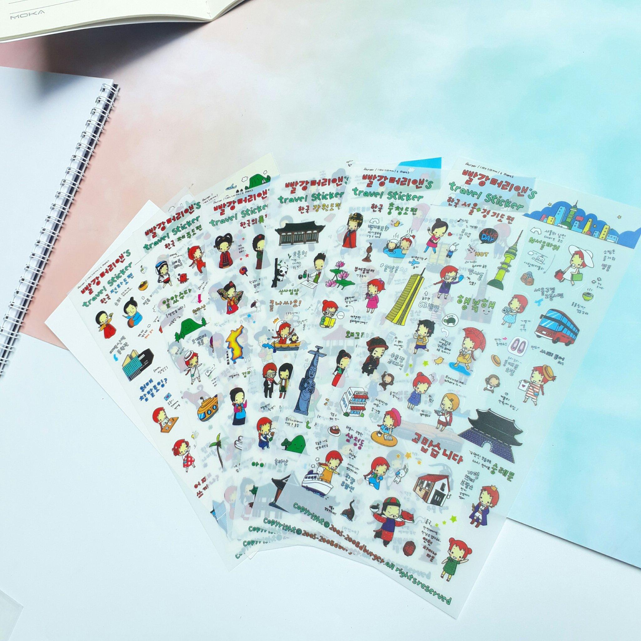 Bộ 6 Miếng sticker Vòng Quanh Thế Giới