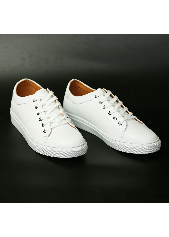 Giày Da Trắng Thể Thao Nam Z052 - Tăng Chiều Cao 3.5cm