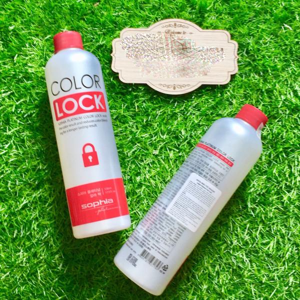 Thuốc giữ màu tóc nhuộm Sophia Platinum color lock 530ml tặng kèm móc khoá