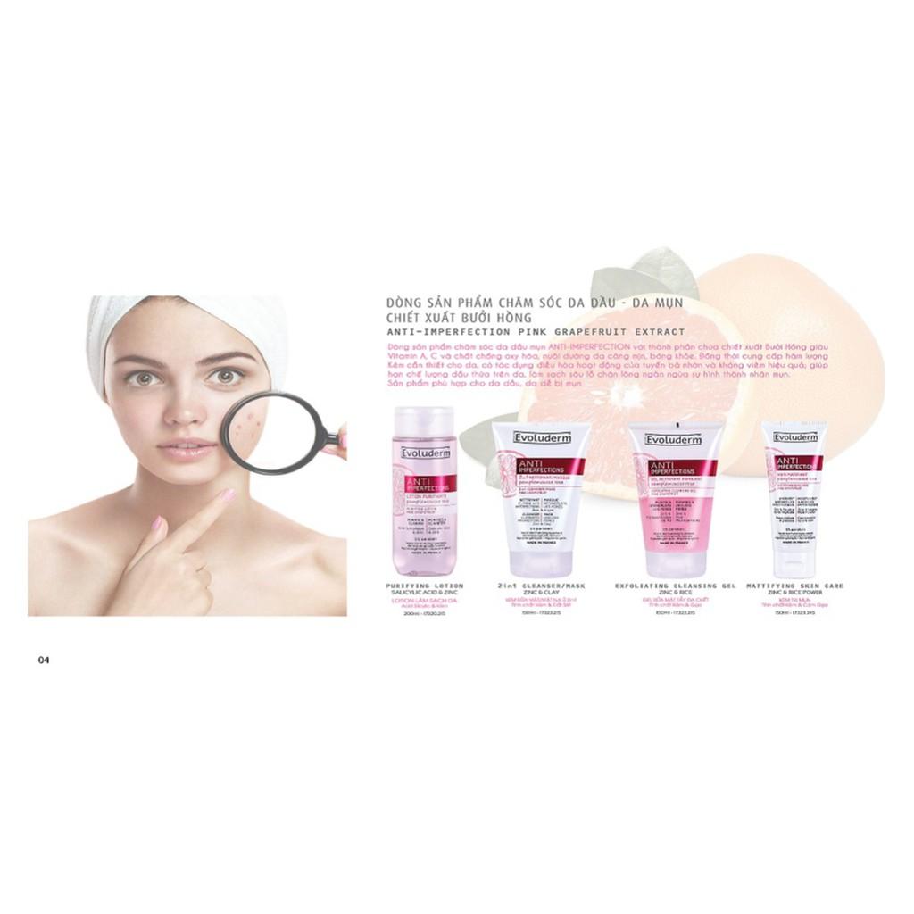 Kem rửa mặt/Mặt nạ ủ 2 in 1 tinh chất bưởi hồng Evoluderm 150ml - 17323