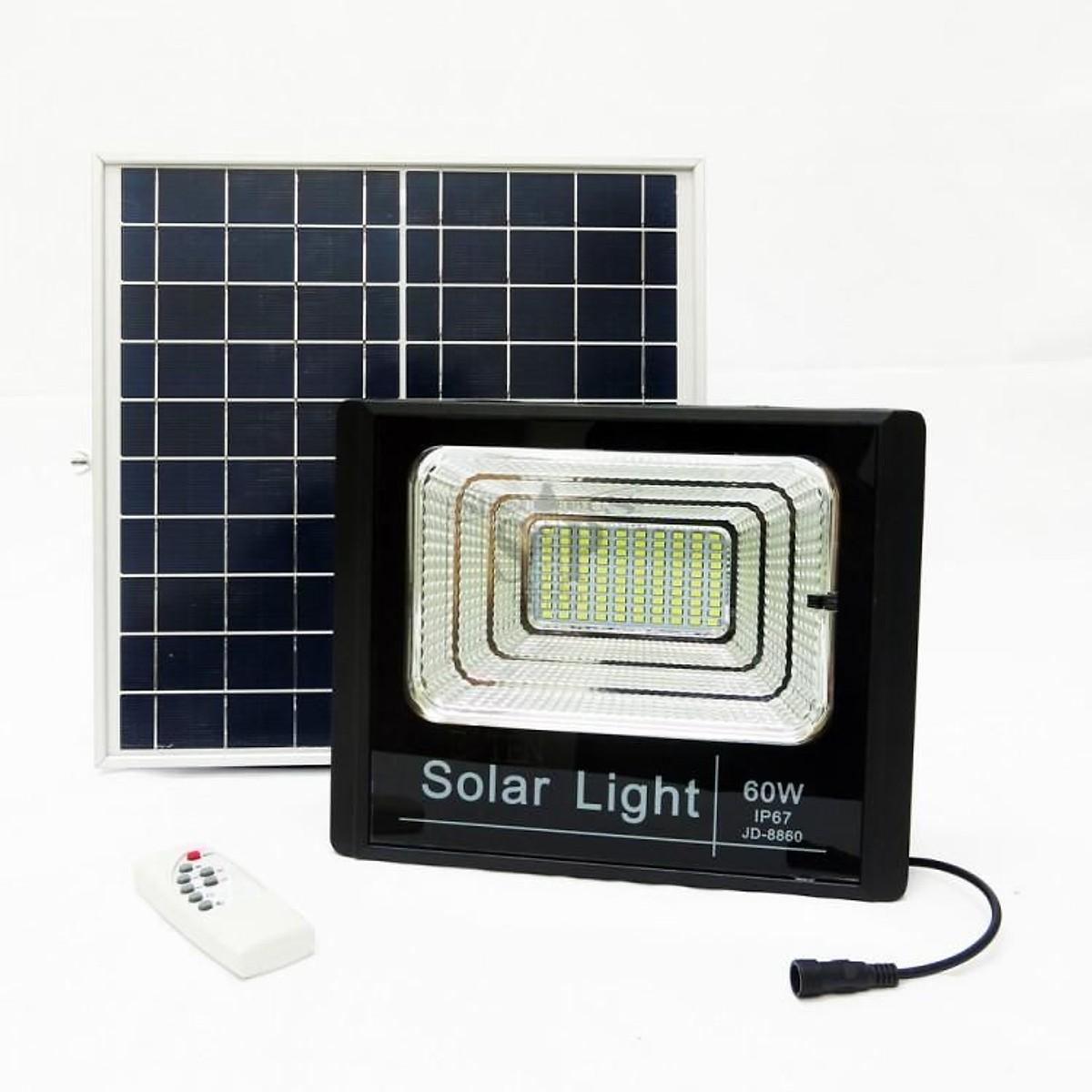 ĐÈN NGOÀI TRỜI, ĐÈN LED NĂNG LƯỢNG MẶT TRỜI SOLAR LIGHT 60W- JD8860