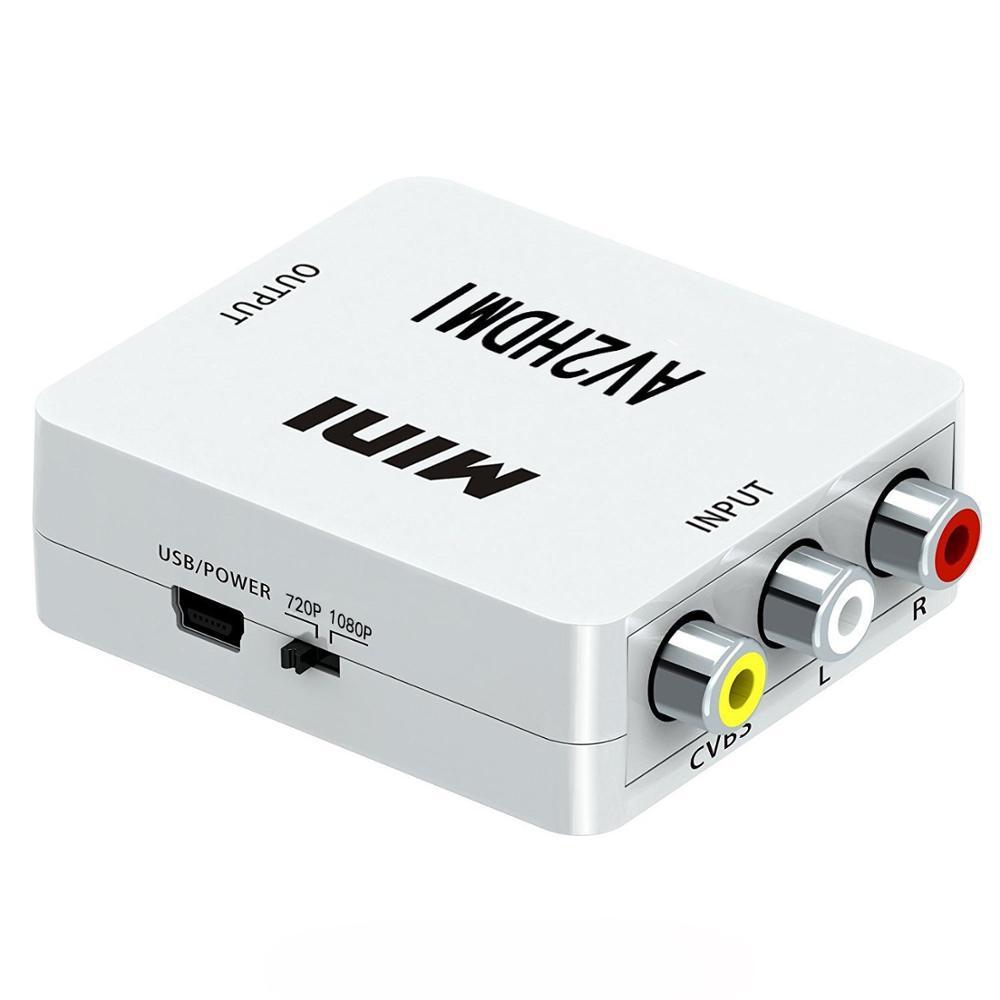 HUB Chuyển đổi mini AV sang HDMI Hỗ trợ đầu ra HDMI 1080p hoặc 720p