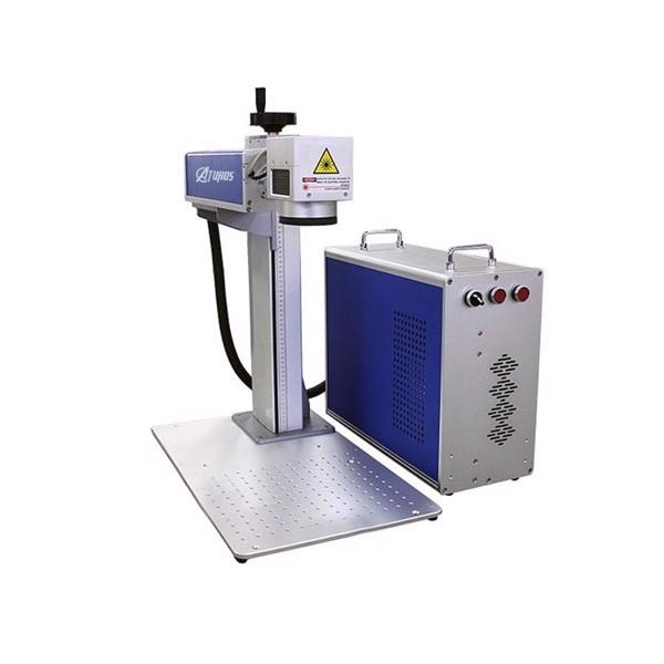 Máy khắc laser fiber kim loại và trên nhiều chất liệu Aturos Max 02R khắc logo, hình ảnh, date, hạn sử dụng, mã vạch, mã QR (Nguồn Raycus, 20W) - Hàng nhập khẩu
