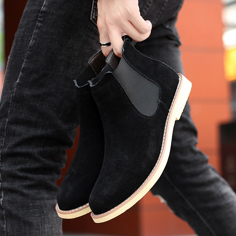 Giày Boot (bốt) Chelsea, giày cổ cao big size cỡ lớn cho nam chân to cân đối - BT097