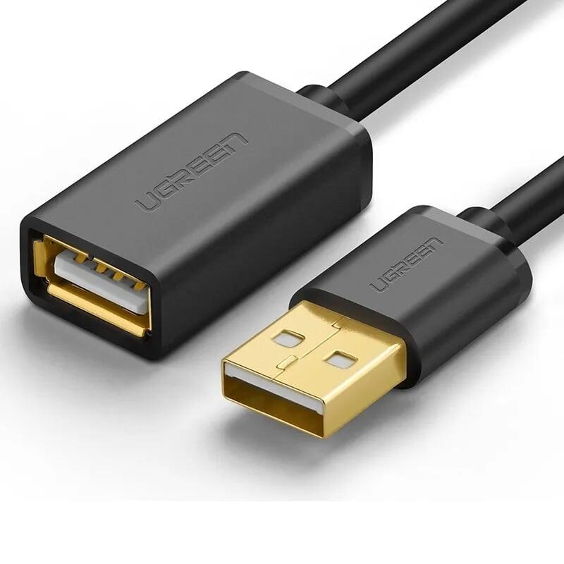 Cáp tín hiệu USB 2.0 nối dài dây tròn mạ vàng cao cấp dài 3M màu đen UGREEN USB10317Us103 Hàng chính hãng