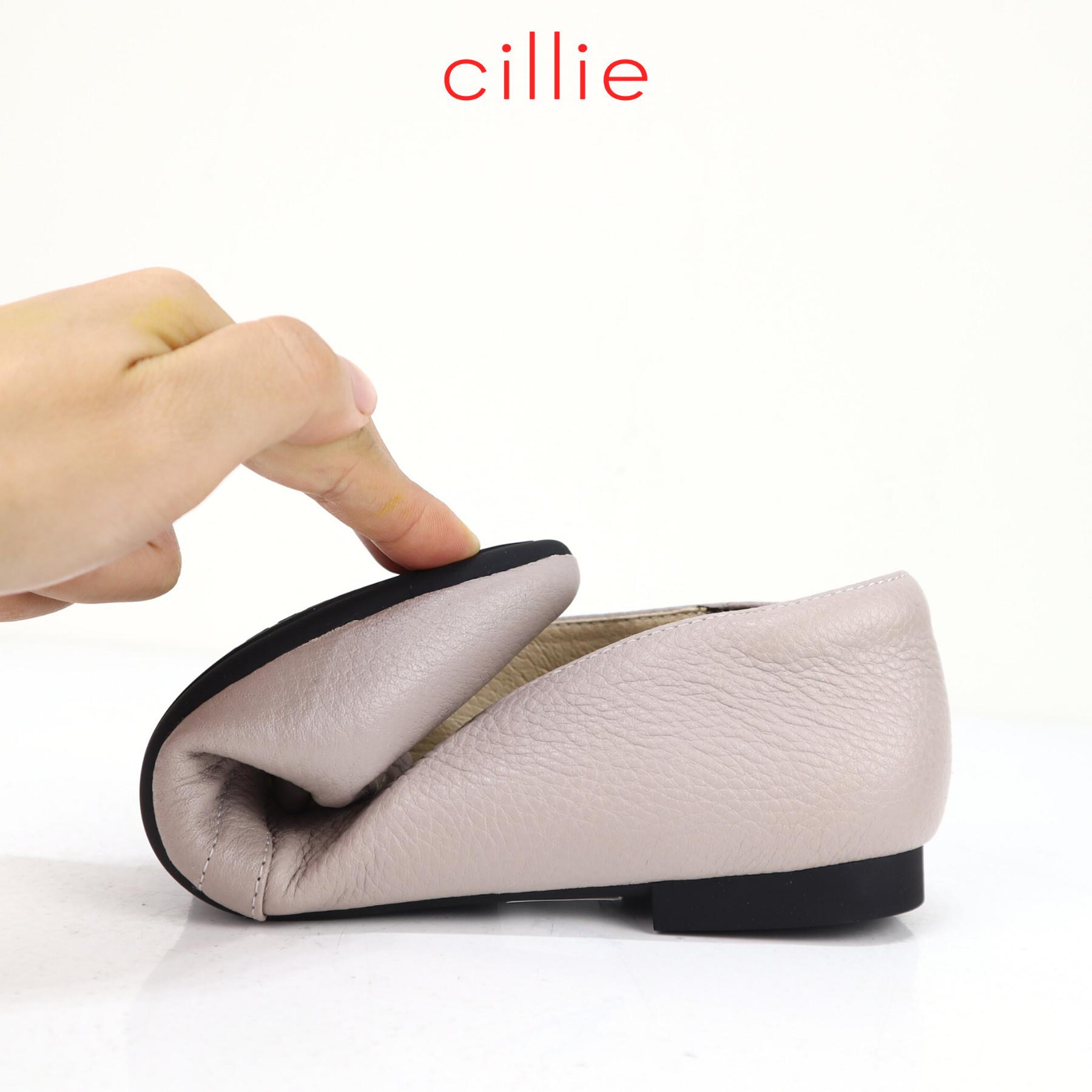 Giày búp bê nữ quai nhún bèo Cillie 1210