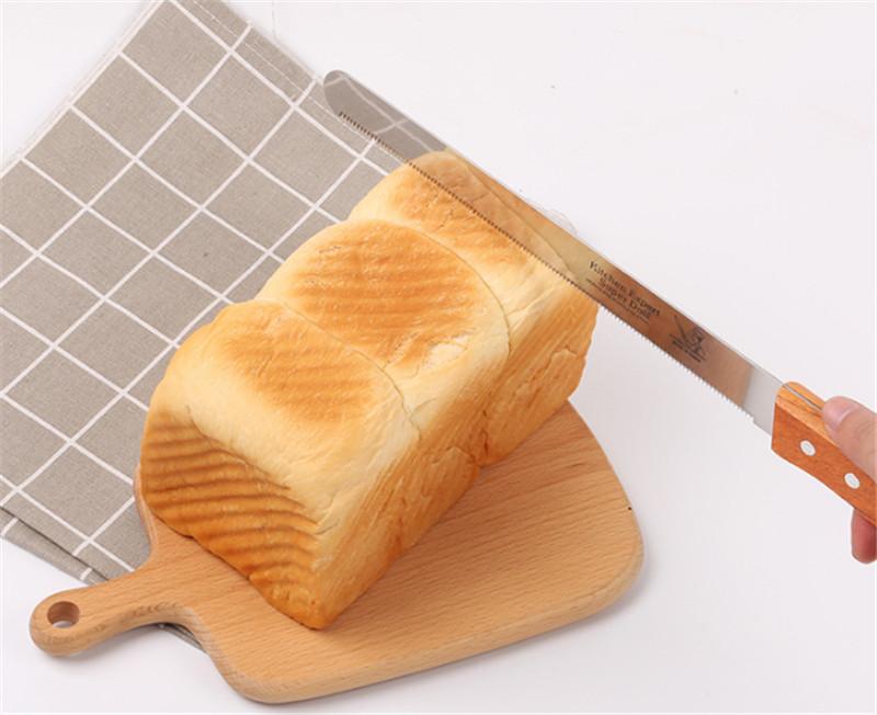 Dao Cắt Bánh Mì Răng Cưa Tay Cầm Gỗ 25cm