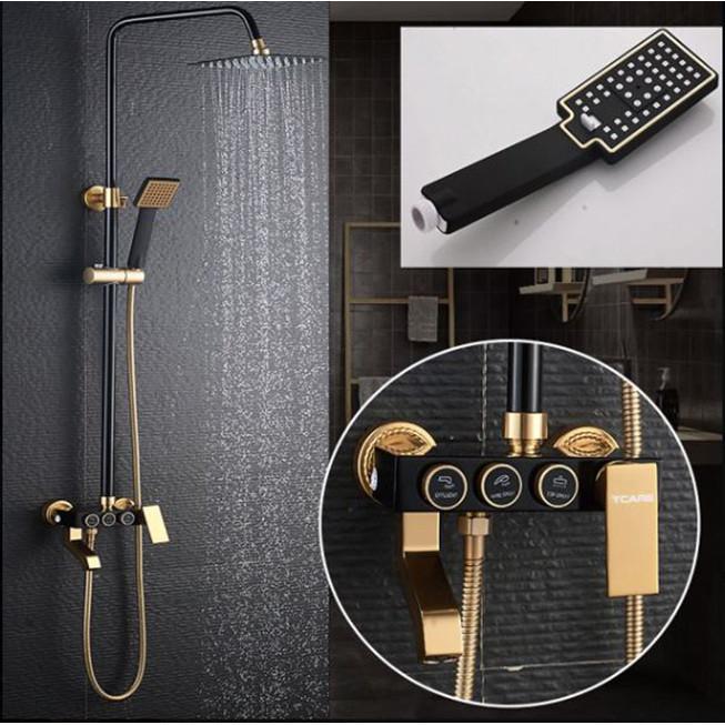 Bộ Sen vòi tắm 3 món cao cấp phong cách Châu Âu Có Phím điều khiển MORADO.04- Hàng chính hãng