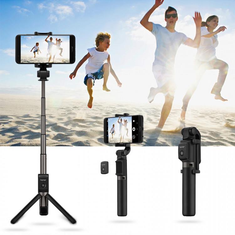 Original Huawei Honor AF15 Bluetooth Selfie Stick Tripod Portable Wireless Control Monopod Handheld for Mobile Phone - Gậy chụp hình Selfie Tripod Huawei 360 độ AF15