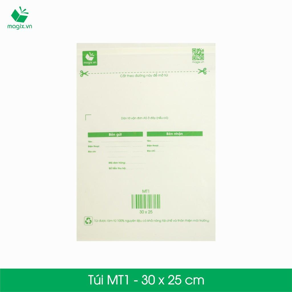 MT1 - 30x25 cm - 100 Túi nilon (tự phân hủy sinh học) đóng hàng
