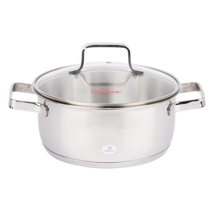 Nồi Inox 3 Đáy Happy Cook Milan Plus N24-MLP (24cm)