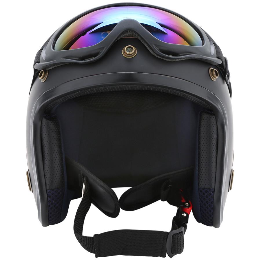 Hình ảnh Combo Mũ Bảo Hiểm 3/4 Đầu Napoli SH Kèm Kính UV400 - Nón Bảo Hiểm Phượt Napoli Mẫu Mới 2020