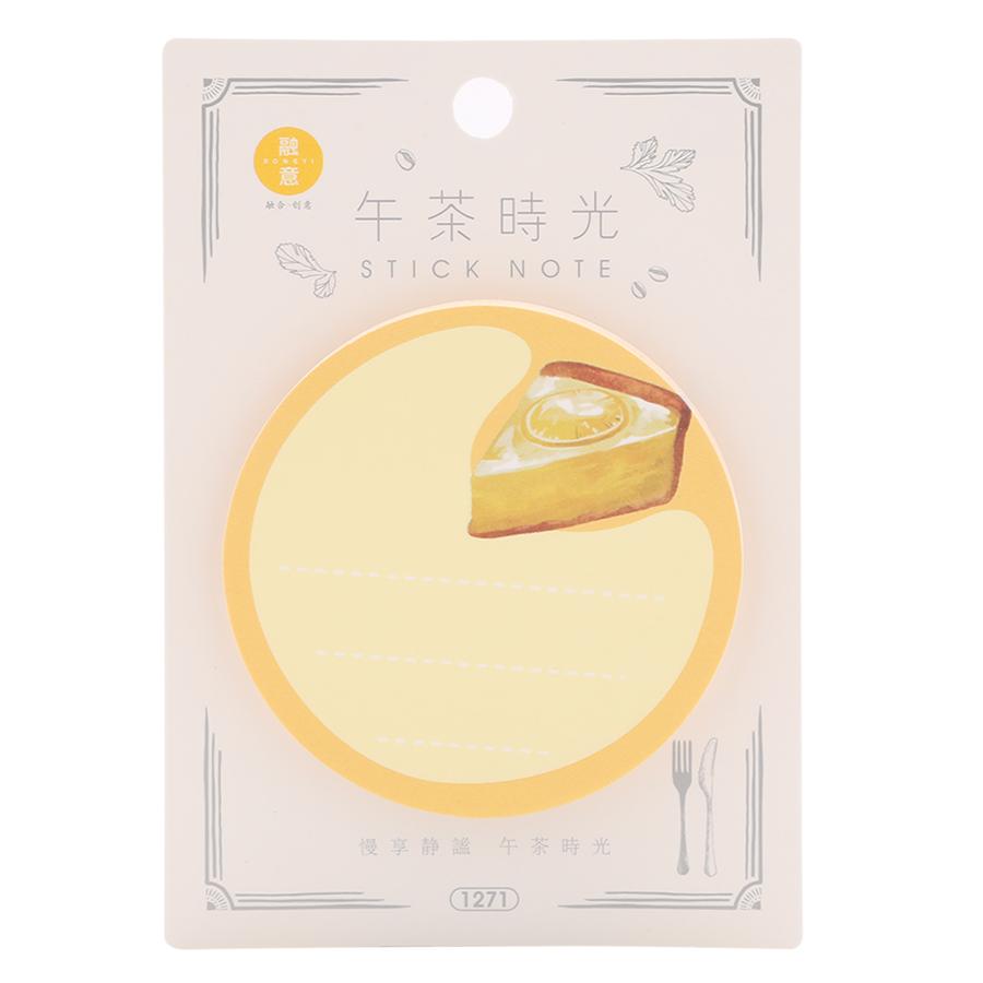 Lốc 4 Xấp Giấy Note No.1271 - Kiểu Hình Bánh