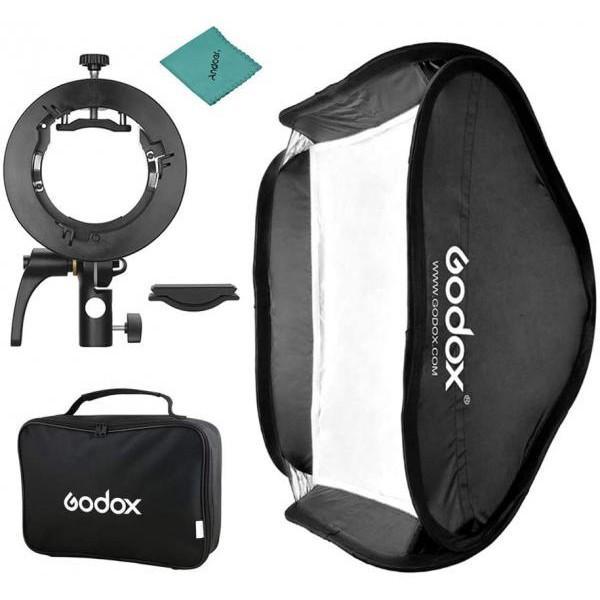 Softbox Godox (80*80cm) với giá đỡ S2 ngàm Bowens mount HÀNG CHÍNH HÃNG