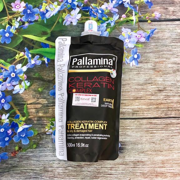 Kem hấp ủ tóc Pallamina Collagen Keratin Complex Treatment siêu mượt  500ml