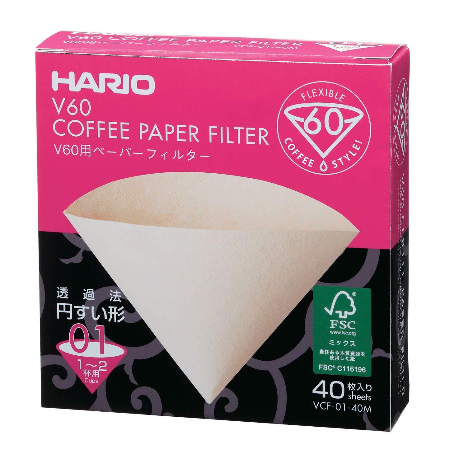 Giấy lọc Hario V60 - 1 cup - Mã VCF-01-40M