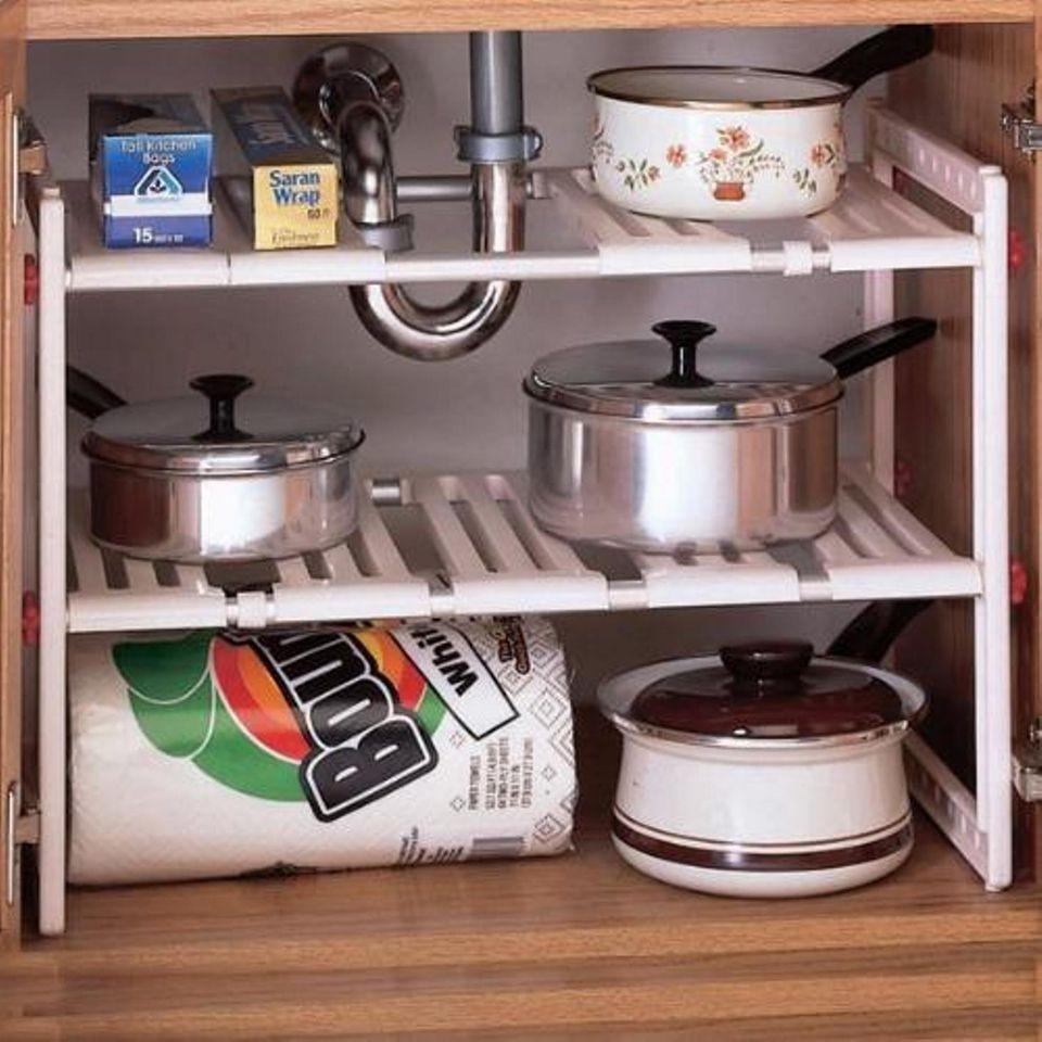 Kệ 2 tầng để đồ nhà bếp tiện lợi