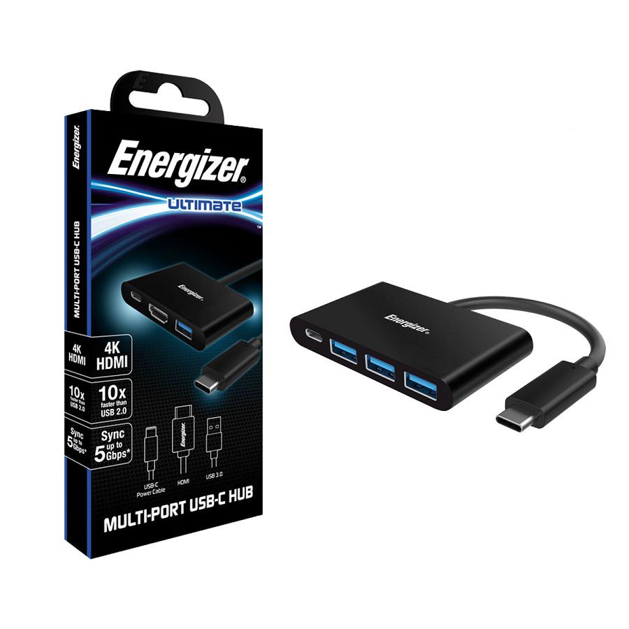 Bộ chuyển USB - C 3.1 Hub Energizer 3USB - A/1USB - C - HC304AC - Hàng Chính Hãng