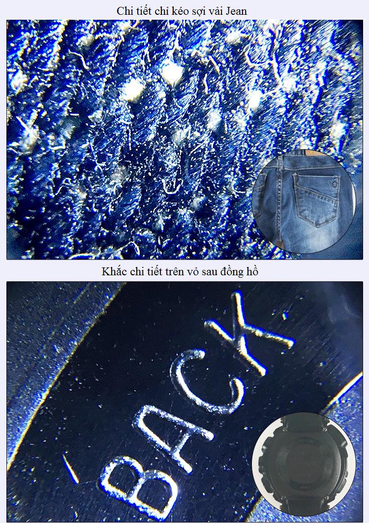 Kính lúp phóng đại 55lần kẹp điện thoại soi mẫu vật ( Thấu kính quang học cao cấp , hình ảnh sắc nét)- Tặng ví thép đa năng tiện dụng 11in1