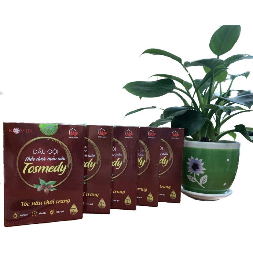 Combo 5 hộp dầu gội thảo dược cho tóc TOSMEDY – Nâu