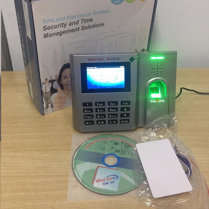 Máy chấm công vân tay/ thẻ từ RONAL JACK X628Plus - Hàng chính hãng