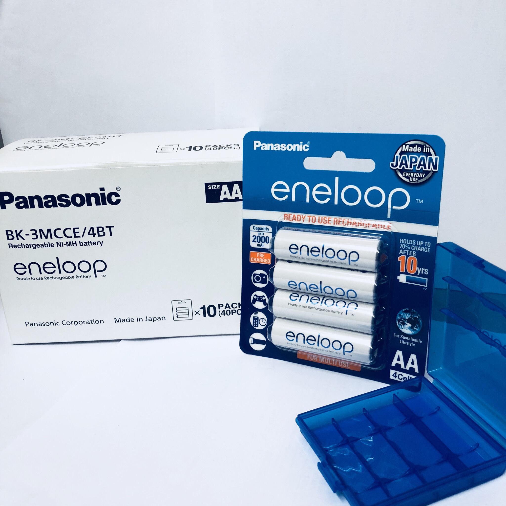 Pin sạc vỉ 4 viên pin eneloop Panasonic AA 2000mAh BK-3MCCE/4B-V-Hàng chính hãng